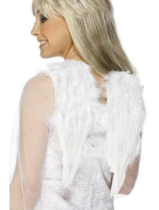 White Angel Wings Costume Accessories