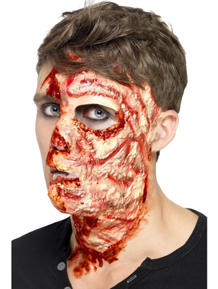 Burnt Face Latex Make up