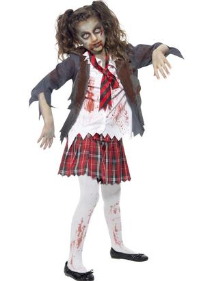 Childs School Girl Zombie Costume