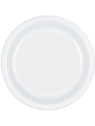 Frosty White Plates - 12 Pack