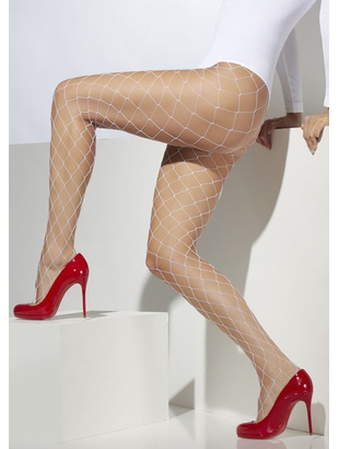 Sexy Diamond Fishnet Tights - White