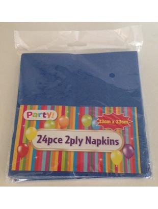Blue Napkins - 24 Pack