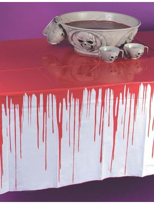 Drips Of Blood Tablecloth