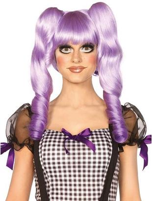 purple dolly bob wig