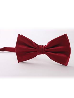 Dark Red Bow Tie