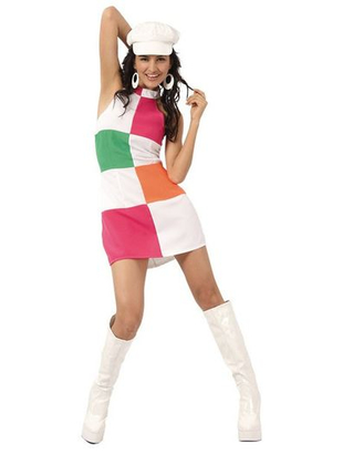 Swinging 60's Mini Dress Costume