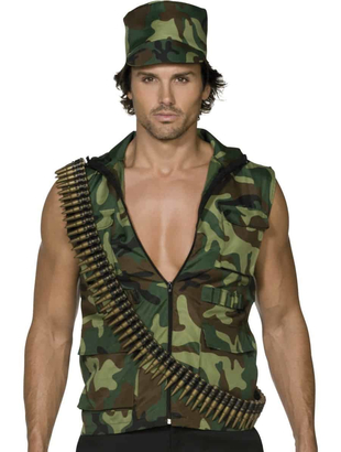 fever army man costume