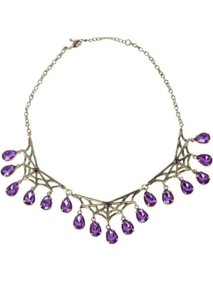 Gothic Spider Web necklace