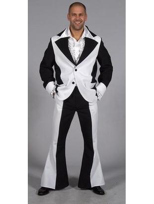 Men's Seventies Suit - Black & White